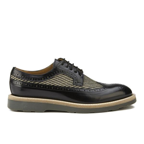 Paul Smith Shoes Women's Grand Brogues - Nero Amalfi/Beige Nero Twill Raffia