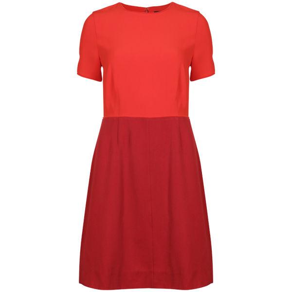 Marc by Marc Jacobs Women's Spongey Wool Twill Short Sleeve Dress - Red Pepper