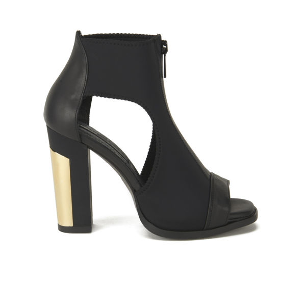 miista womens mollie cut out leather heeled shoes black