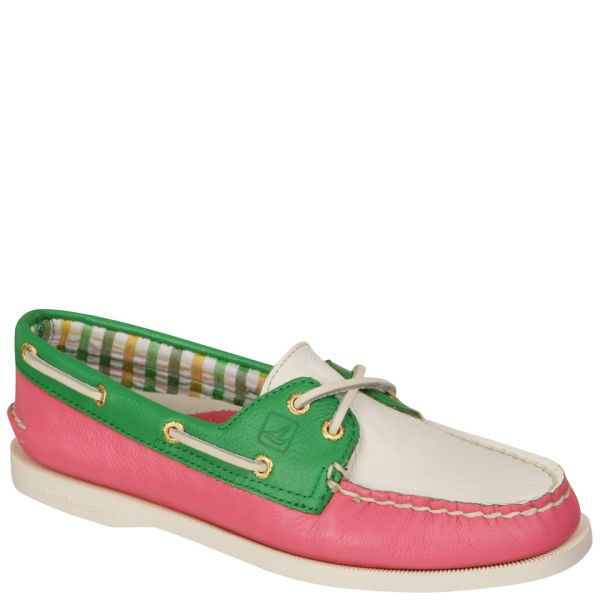 Sperry Women's A/O 2-Eye Boat Shoes - Pink/Green/White