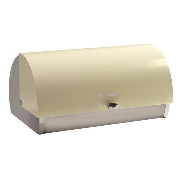 Morphy Richards 46242 Roll Top Bread Bin - Cream