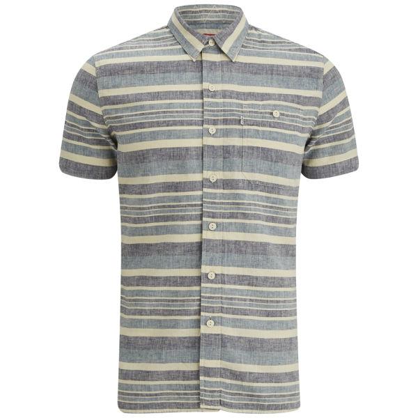 Levi's Men's Short Sleeve Slim Fit Utility Shirt - Blue