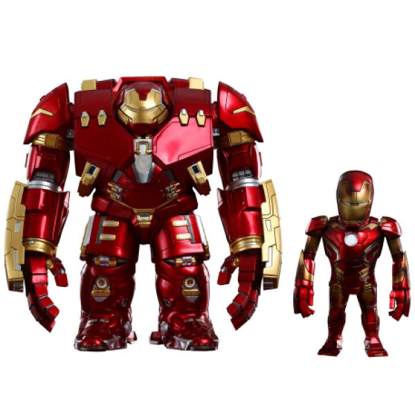 Hot Toys Marvel Avengers Age of Ultron Series 1 Iron Man Mark XLIII Battle Damaged Version and Hulkbuster Collectible Figures