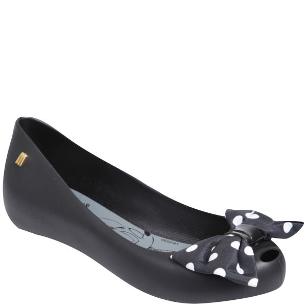 Melissa Women's Ultragirl Minnie Mouse Ballet Pumps - Black Bow