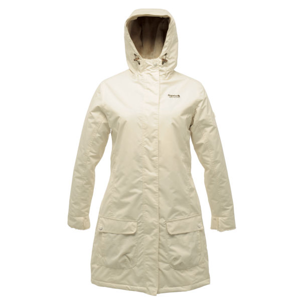 Regatta Women's Luna Luv Long Water Proof Jacket - Polar Bear ...