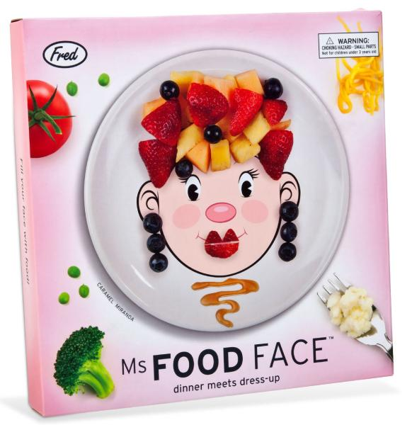 Mrs Food Face Dinner Plate Iwoot