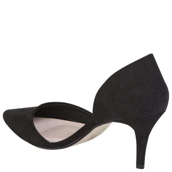 2f2e0bfc6e78 Miss KG Women s Celina Heeled Suedette Court Shoes - Black  Image 2
