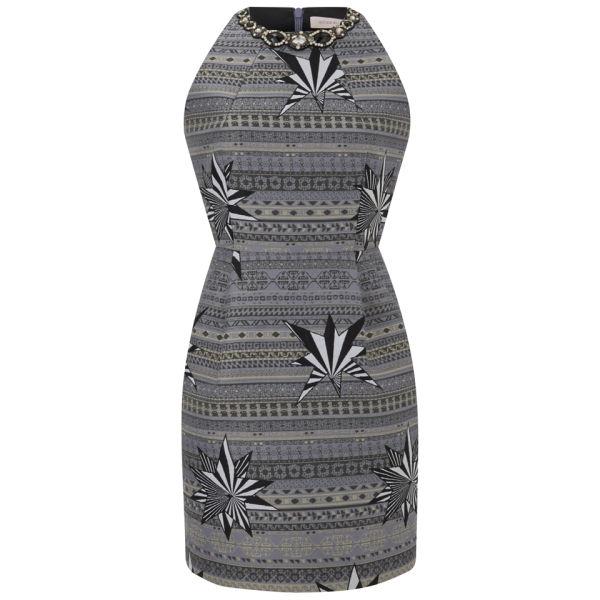 Matthew Williamson Women's Star Jacquard Embroidered Dress - Black/White