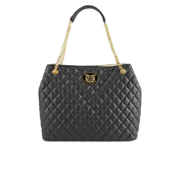 Love Moschino Womens Quilted Tote Bag Black Free Uk Delivery