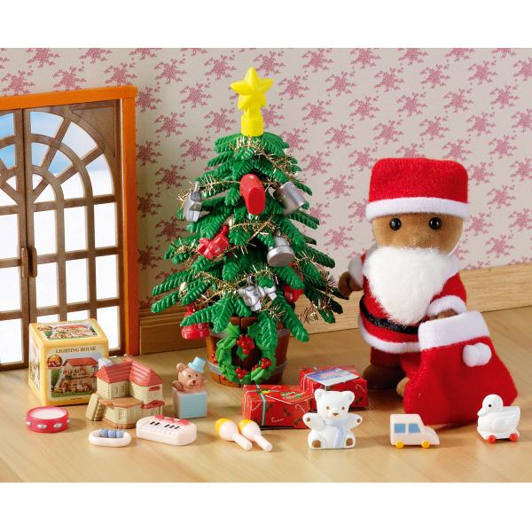 sylvanian families  father christmas  u0026 tree set