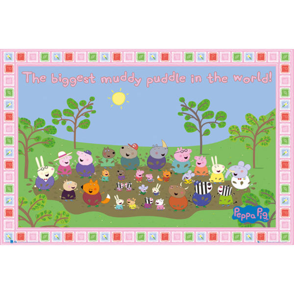 Peppa Pig Muddy Puddle - Maxi Poster - 61 x 91.5cm