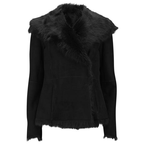 Black shearling coat uk