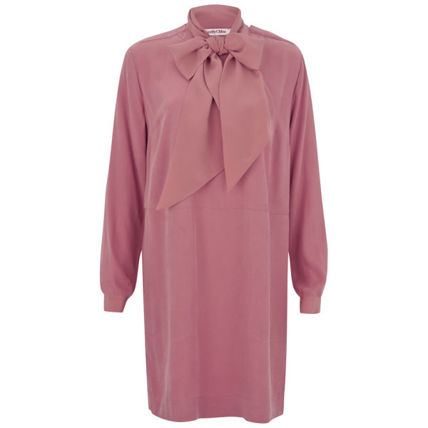 See By Chloé Women's Tie Cape Dress - Pink