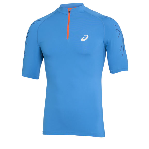 Asics Men's 1/2 Zip Running Top - Atlantic Blue