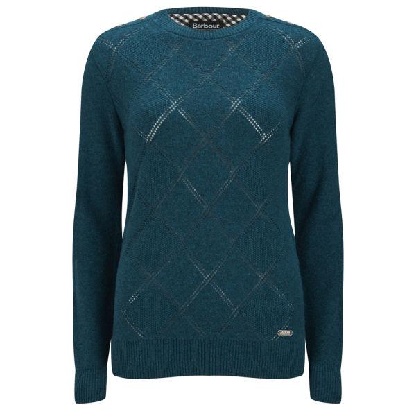 Barbour International Women's Bellister Lambswool Knitted Jumper - Legion Blue