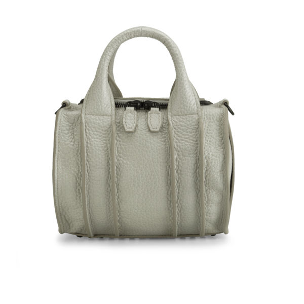 Alexander Wang Rockie Inside Out Mini Leather Bowler Bag - Chalk/Black Stud