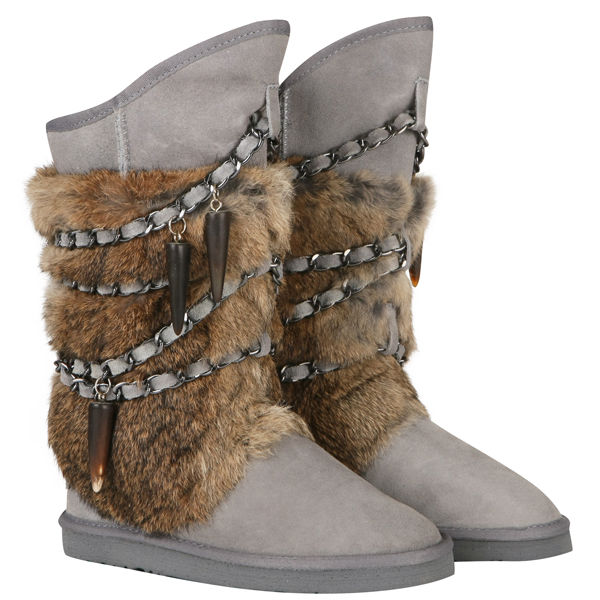 Australia Luxe Women's Atilla Boots - Light Grey