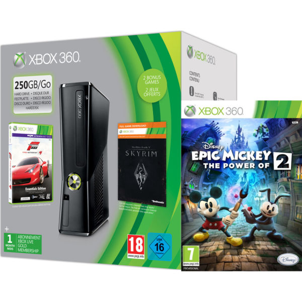 Xbox 360 250GB Holiday Mickey Bundle (Includes Disney's Epic ...