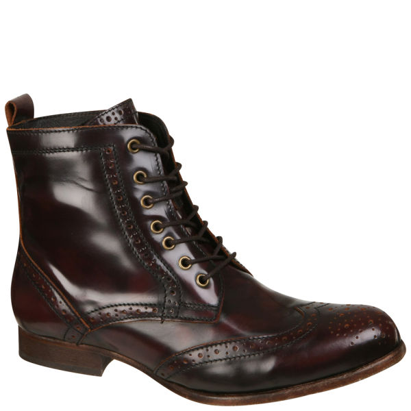 H Shoes by Hudson Women's Sherwin Lace Up Ankle Boots - Bordo