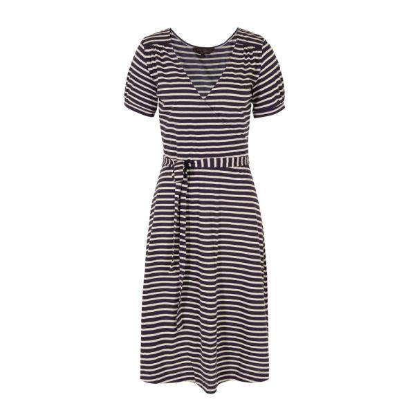 Great Plains Women's J1BG9 Cambridge Stripe Wrap Dress - Damsel Tulle