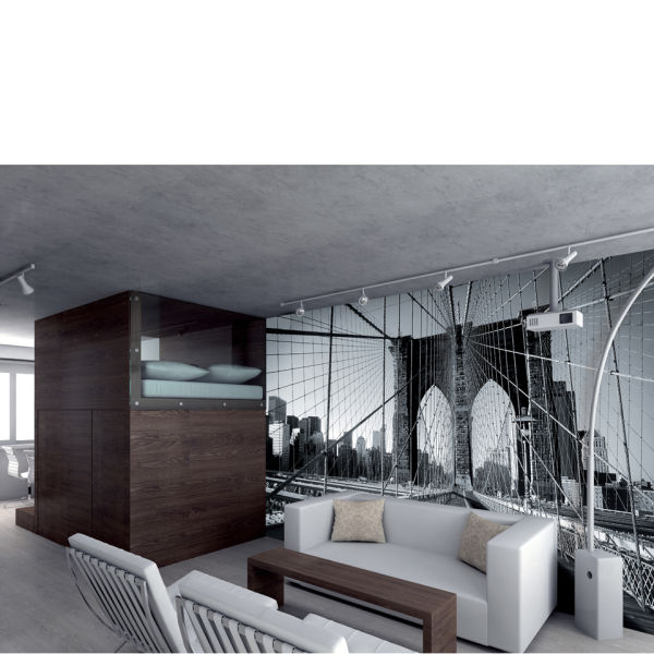 New yorks brooklyn bridge wall mural homeware zavvi for Brooklyn bridge black and white wall mural