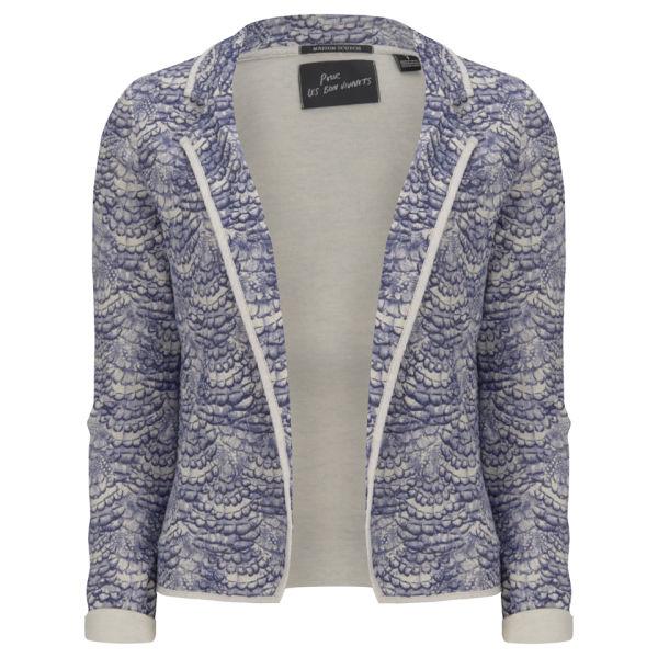 Maison Scotch Women's Printed Jersey Blazer - Blue