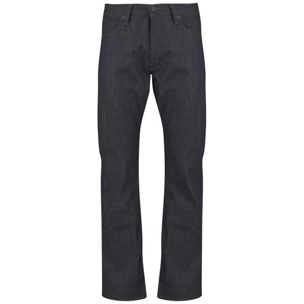 PRPS Men's Mid Rise Woven Denim Jeans - Raw Indigo