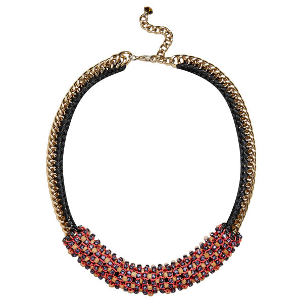 Nocturne Women's Nora Beaded Necklace - Pink