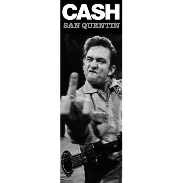 Johnny Cash San Quentin (Finger) - Door Poster - 53 x 158cm