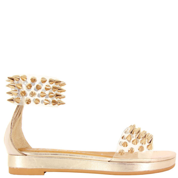 Jeffrey Campbell Women's Largos SPK Sandals - Clear Gold