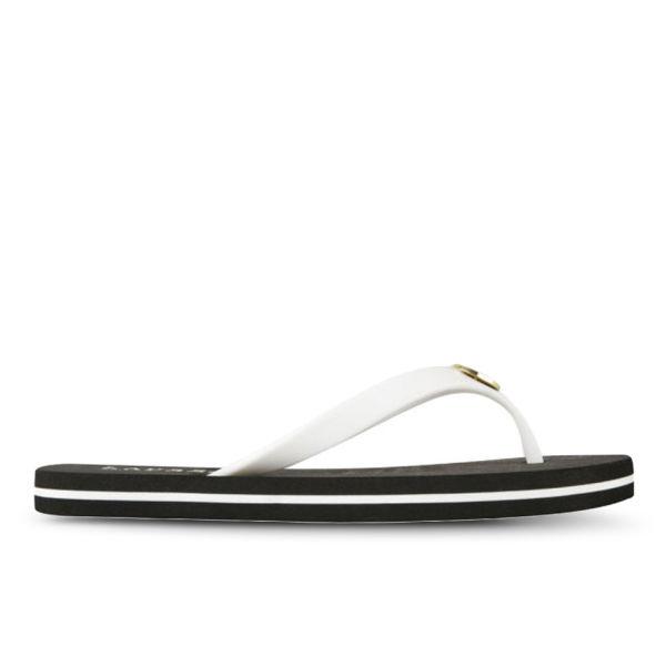 76626dd72bed Lauren Ralph Lauren Women s Elissa II Flip Flops - White Black  Image 1