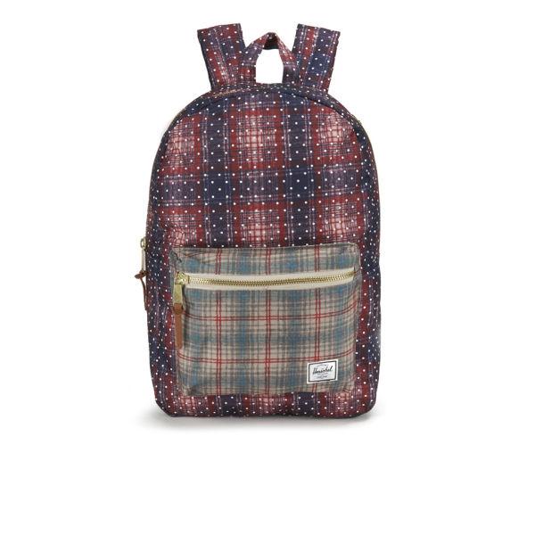 0efb5ae041c5 Herschel Supply Co. Settlement Front Zip Pocket Backpack - Rust Plaid Polka  Dot Grey Plaid - Free UK Delivery over £50