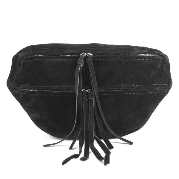 Yvonne Koné Women's Oversized Bum Bag - Suede Black - Free UK ...