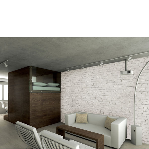 Distressed White Brick Wall Mural