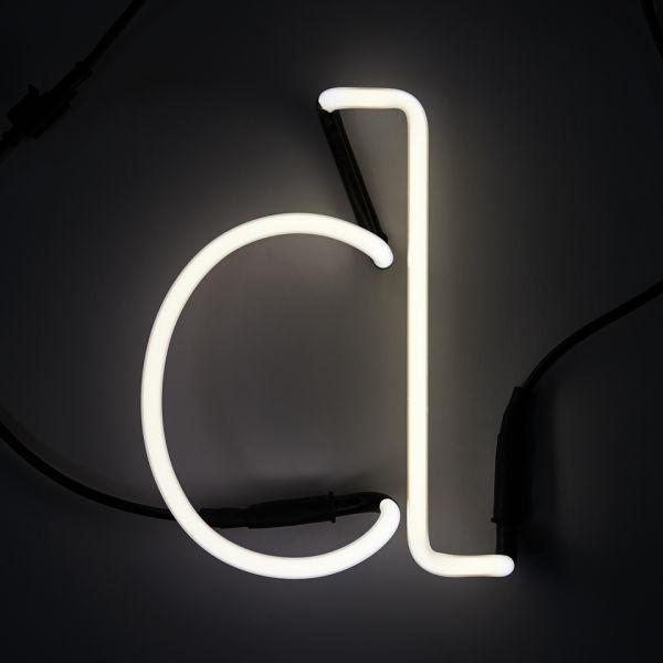 Seletti Neon Wall Light - Letter D