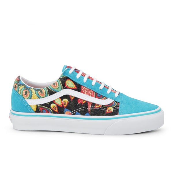 53edc31773 Vans Women s Old Skool Peacock Trainers - Multi  Image 1