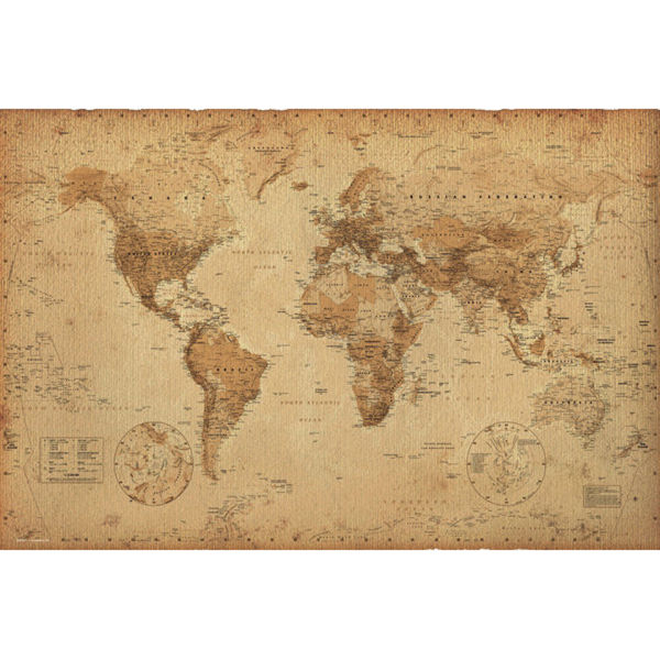 World Map Antique Style - Maxi Poster - 61 x 91.5cm