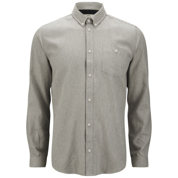 Suit Men's Perry Button Down Shirt - Light Grey Mens Clothing ...
