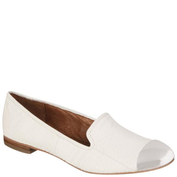 Sam Edelman Women's Aster Mock Python Slipper Shoes - Ice White