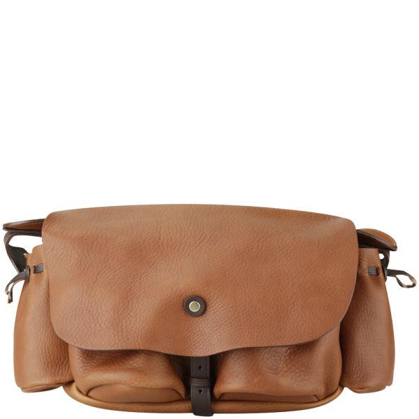 bill amberg hunter leather medium messenger bag tan. Black Bedroom Furniture Sets. Home Design Ideas