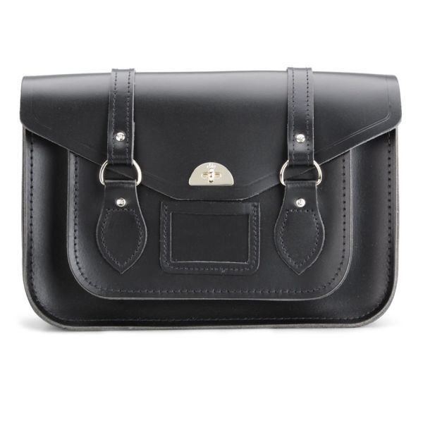 The Cambridge Satchel Company Large Leather Shoulder Bag - Black