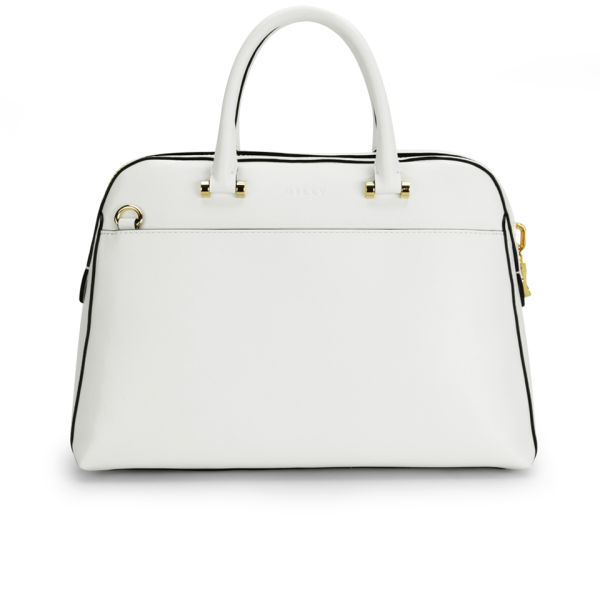 MILLY Blake Medium Kettle Leather Tote Bag - White