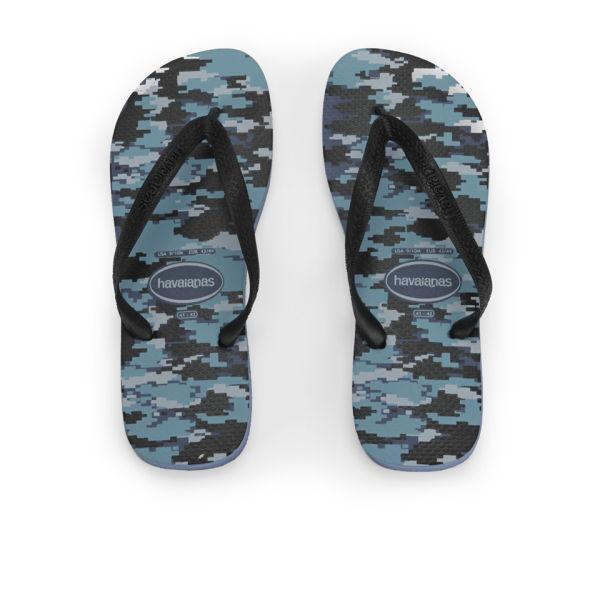 8755e01e12a9 Havaianas Men s Top Camo Print Flip Flops - Indigo Blue  Image 1