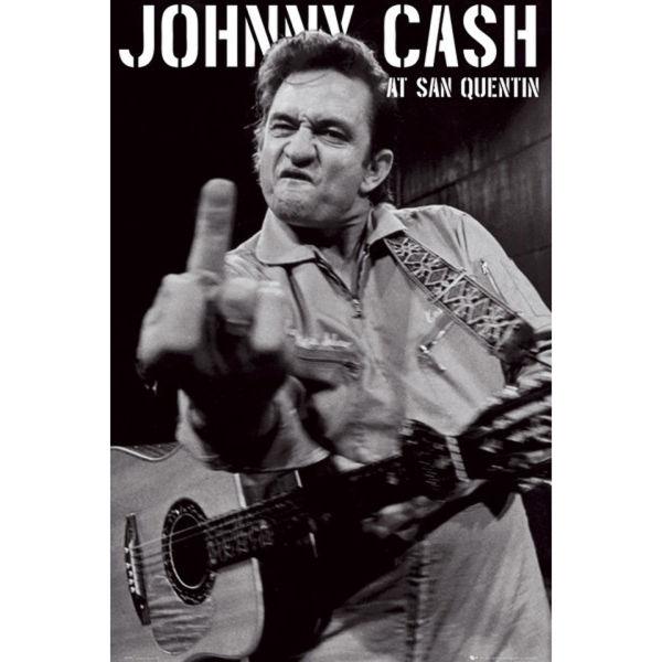 Johnny Cash San Quentin Portrait - Maxi Poster - 61 x 91.5cm