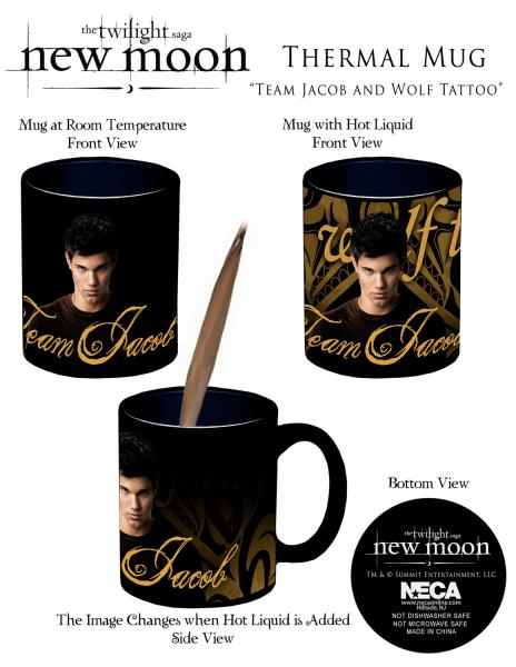 Twilight new moon thermal mug team jacob and wolf tattoo for Twilight jacob tattoo temporary