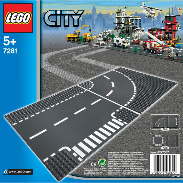 LEGO City: Plaques de route - Intersection et Virage (7281)