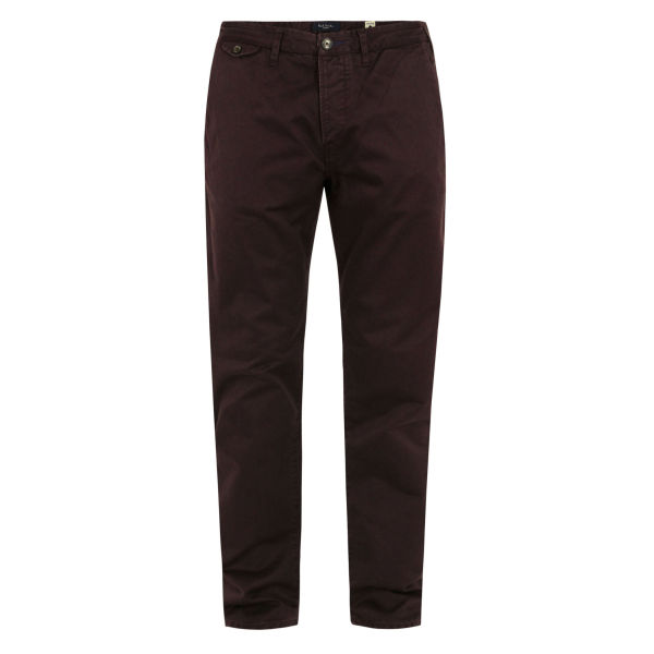 Paul Smith Jeans Men's 945K-112 Damson Columbian Cotton Trousers - Dark Red