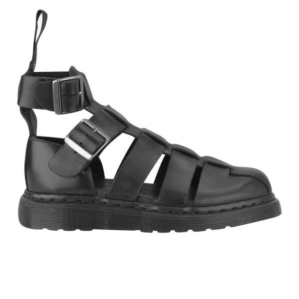 a567b17e45d Dr. Martens Womens Geraldo Ankle Strap Leather Sandals - Black ...