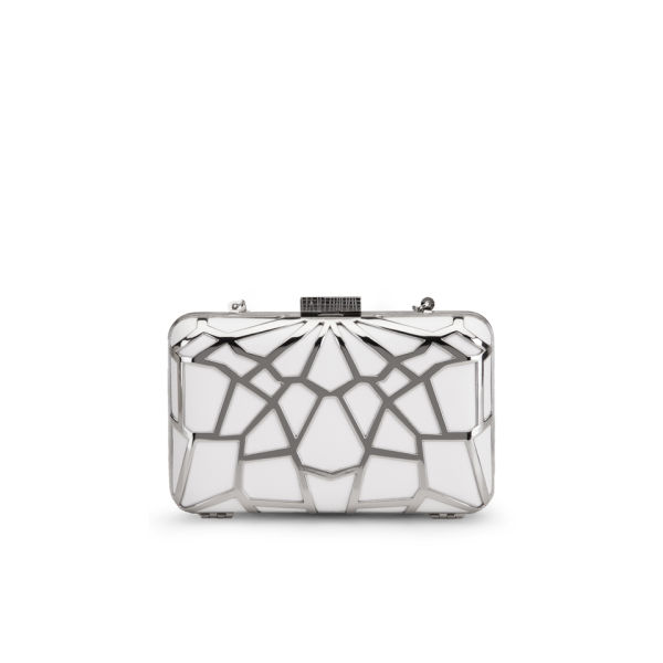 French Connection Hattie Caged Filigree Clutch - White