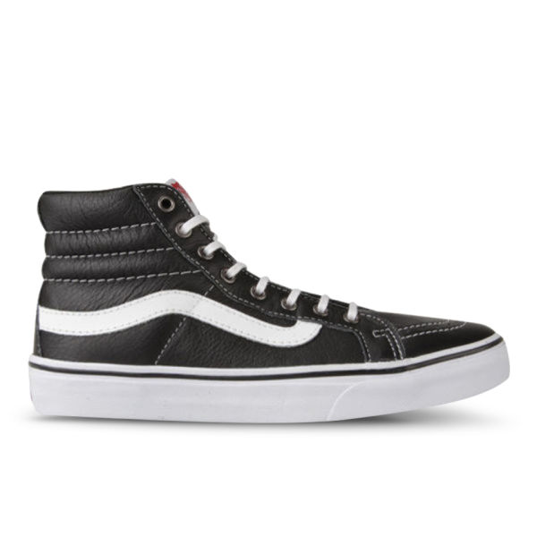 70622f10b797 Vans Women s Sk8-Hi Slim Leather Hi-Top Trainers - Black  Image 1